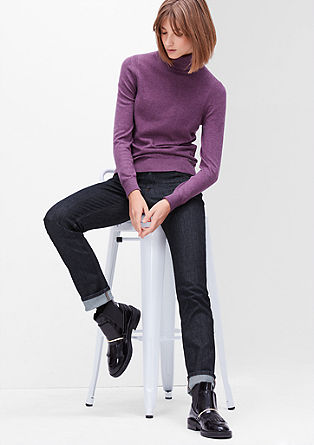 Shape Slim: Rinsed, garment-washed jeans from s.Oliver
