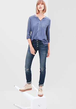 Shape Skinny: distressed jeans from s.Oliver