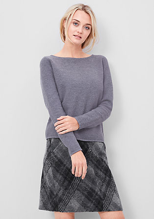Wool blend check skirt from s.Oliver