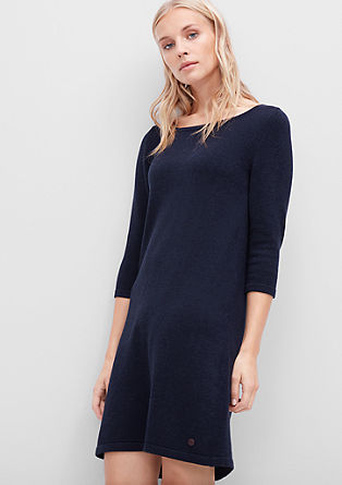 Fine knit wool blend dress from s.Oliver