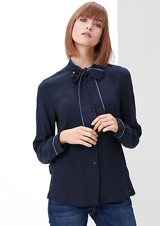 Piped pussycat bow blouse from s.Oliver