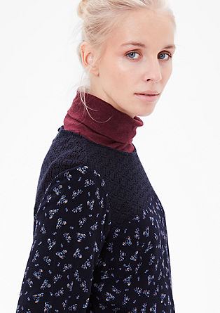 Floral blouse with lace from s.Oliver