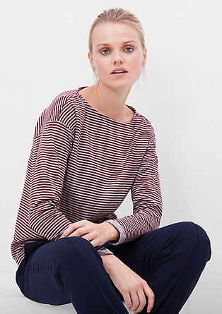 Striped double-faced long sleeve top from s.Oliver
