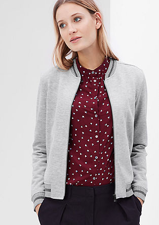 College-style sweatshirt jacket from s.Oliver