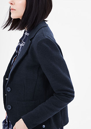 Blazer with a ribbed texture from s.Oliver
