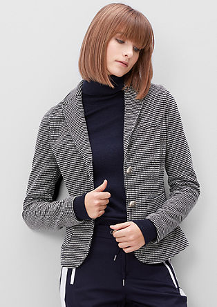 Blazer with a woven pattern from s.Oliver