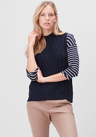 Chunky knit tank top from s.Oliver