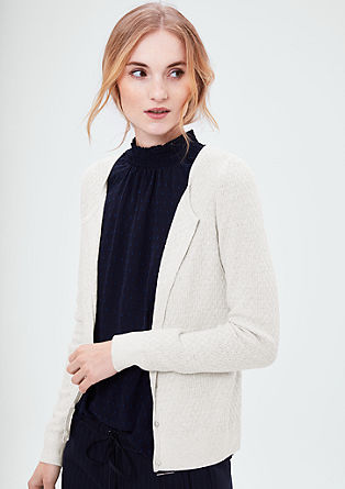 Cardigan with textured pattern from s.Oliver