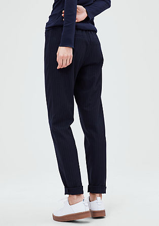 Smart Chino: pinstripe trousers from s.Oliver