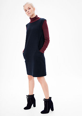 Shift dress with garment-washed wool from s.Oliver