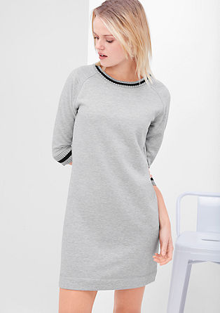 Sweatshirt dress with rib knit trims from s.Oliver