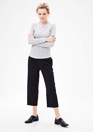 Long sleeve top with a striped pattern from s.Oliver