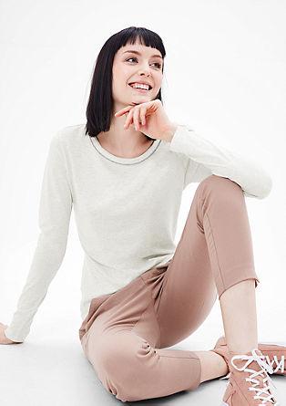Softes Shirt mit Schmuckkragen