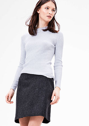 Short skirt in blended wool from s.Oliver