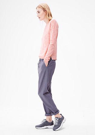 Leichter Melange-Pullover