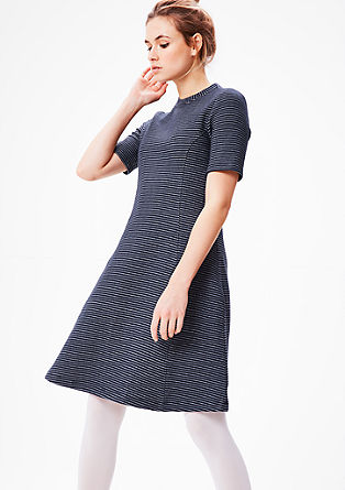 Sweatshirt dress with striped texture from s.Oliver