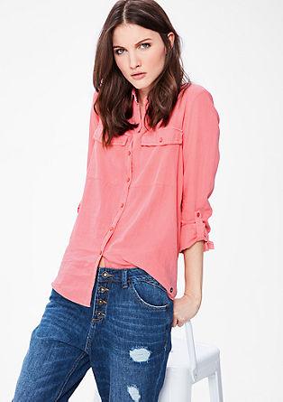 Ležérní košilová halenka zbavlny