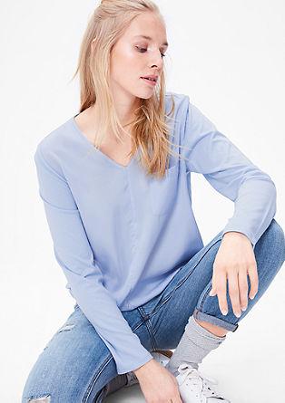 Blusenshirt mit V-Neck