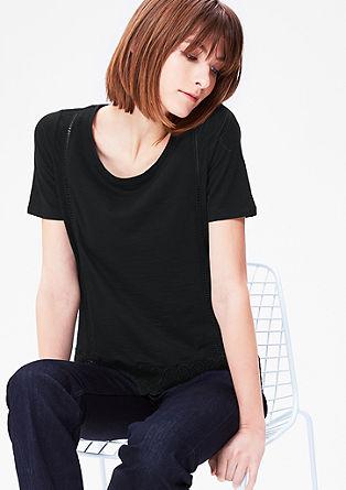 Spitzen-Shirt mit Lochmuster