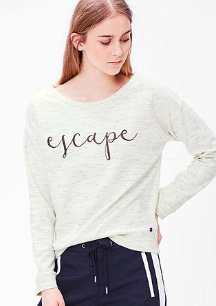 Gemêleerd sweatshirt met een flockprint
