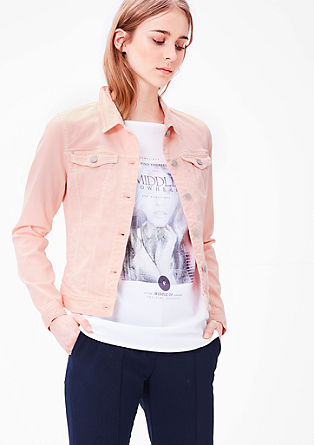 Stretchy coloured denim jacket from s.Oliver