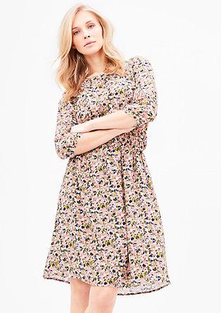 Millefleurs-Kleid aus Crêpe