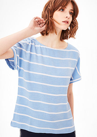 Lightweight blouse top with stripes from s.Oliver