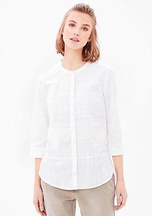 High-fastening cotton blouse from s.Oliver