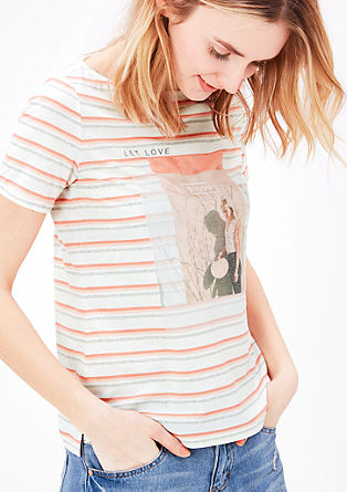 Soft T-shirt with printed lettering from s.Oliver