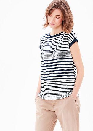 Slub yarn top with a stripe pattern from s.Oliver