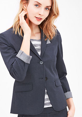 Elegant blazer with contrasting lining from s.Oliver