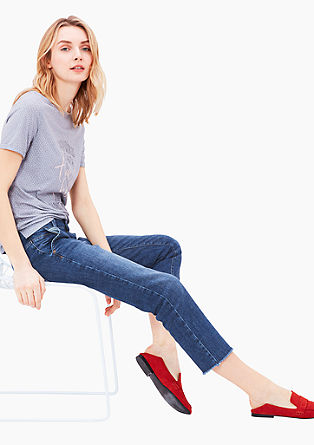 Cropped Straight: Stretchjeans