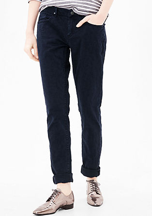 Shape Slim: jacquard trousers from s.Oliver