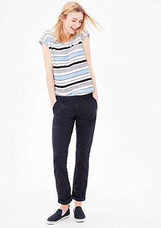 Smart Straight: Trousers with effect stitching from s.Oliver