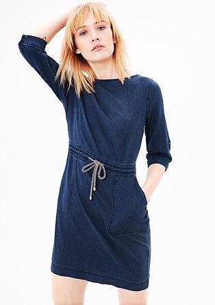 Strukturiertes Kleid mit Wascheffekt