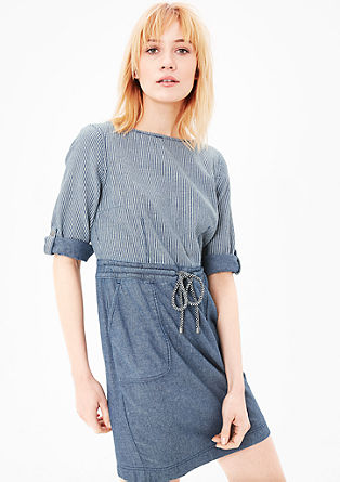 Textured dress with a garment-washed effect from s.Oliver