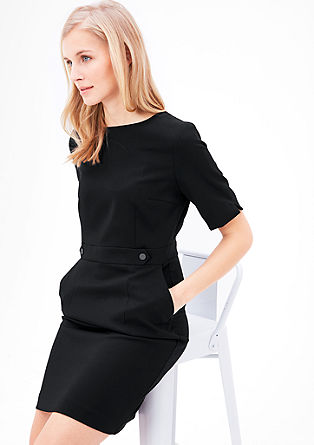 Slim-fitting twill dress from s.Oliver