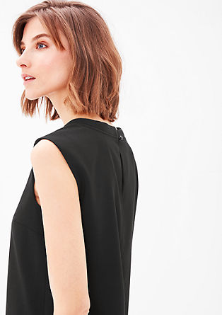 Dress with a ribbed collar from s.Oliver