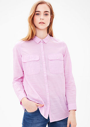 Shirt blouse with a woven texture from s.Oliver