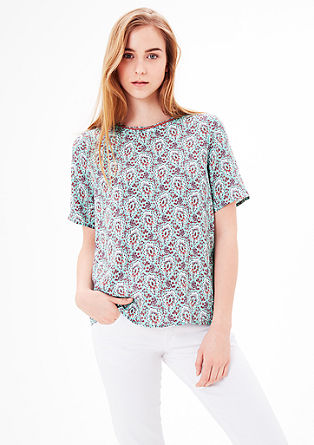 Blouse with an all-over print from s.Oliver