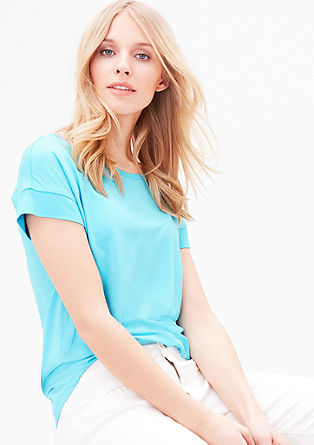 Jersey T-shirt with ribbed details from s.Oliver