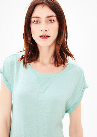 O-shaped T-shirt with a blouse front from s.Oliver