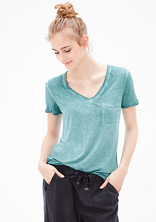 T-shirt in a sun-faded look from s.Oliver