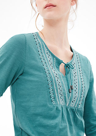 Tunic top with embroidery from s.Oliver