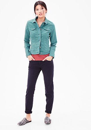 Stretch cotton twill jacket from s.Oliver
