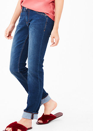Smart Straight: jeans with buttons from s.Oliver