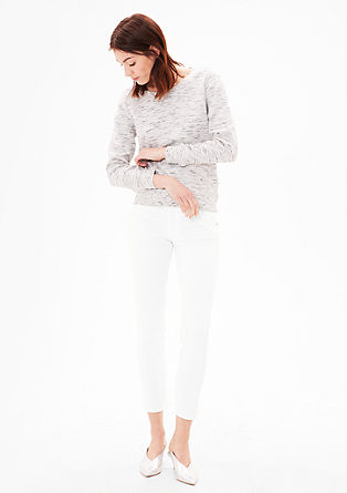 Shape Ankle: white stretch jeans from s.Oliver