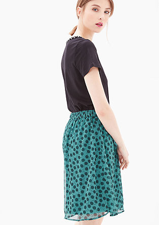 Chiffon skirt with an all-over pattern from s.Oliver