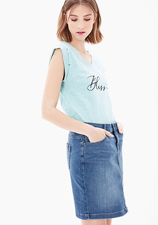 Stretchy, denim rok