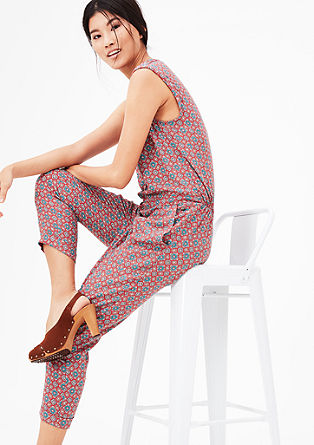 Lightweight jumpsuit with print pattern from s.Oliver